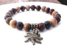Stone Bracelet Sun Bracelet Tribal Bracelet Boho by BlueStoneRiver, $27.50