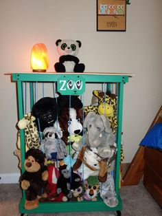 Zoo, Stuffed Animal Storage/side Table Organization #30dayflip