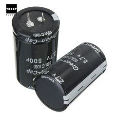 Venta caliente Más Nuevo 1 UNIDS Negro Condensador Faradio 2.7 V 500F 35x60 MM Condensador de alto rendimiento 60mm DIY nueva Llegada de La Venta Caliente