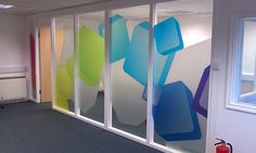 FunkBunk Meeting Room, Village of Wing  (glass wall/decals)