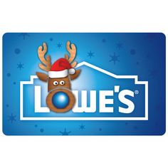 Snow Reindeer Gift Card. I am stockpiling Lowe's gift card to buy a grill.  Makes a great stocking stuffer for anyone who needs any ideas.