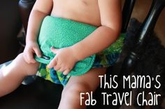 18 DIY Projects for Baby Boys - strap for makeshift highchair on the go