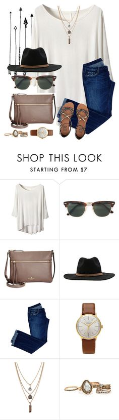 """""""Start this work week with a fresh and open mind"""" by joannakirk ❤ liked on Polyvore featuring Ray-Ban, Kate Spade, RVCA, Dsquared2, Junghans, Forever 21 and Billabong"""