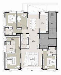 Condo Floor Plans, Hotel Floor Plan, Bathroom Floor Plans, Apartment Floor Plans, House Layout Plans, Modern House Plans, House Layouts, Detail Architecture, Architecture Plan
