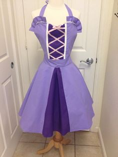 Rapunzel adult apron dress by AJsCafe on Etsy