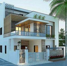 House Arch Design, Architect Design House, 2 Storey House Design, Home Building Design, Bungalow House Design, Modern Small House Design, Modern Exterior House Designs, Latest House Designs, Modern House Facades