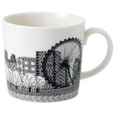 Royal Doulton - Charlene Mullen London Calling Eye Mug | Peter's of Kensington