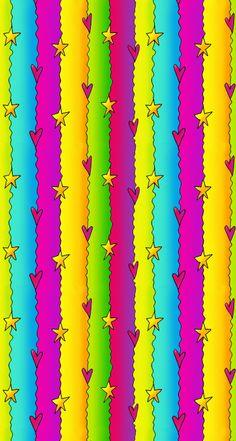 Vibrant Neon Stripes and Hearts Wallpaper Heart Iphone Wallpaper, Wallpaper 2016, Cellphone Wallpaper, Cool Backgrounds, Wallpaper Backgrounds, Kawaii Background, Pocket Scrapbooking, Crazy Colour, Textured Wallpaper