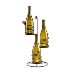 Metal Scrolled Wine Bottle Candle Holder at Kirkland's - this is a different style