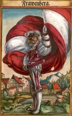 """Fraunberg [Frawenberg] (f°35) -- Koebel, Jacob, """"Wapen des heyligen römischen Reichs teutscher Nation"""", Franckfurth am Main, 1545 [BSB Ms. Rar. 2155]"""