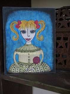 Pretty Creepy Treasury by Danielle Ramaker on Etsy