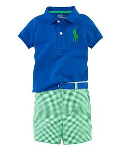 Don't care if it's really Polo. But I do love this outfit!