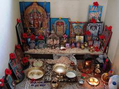 [poojaroom_20072007.jpg]  another shakti puja room with many mahadevi images.