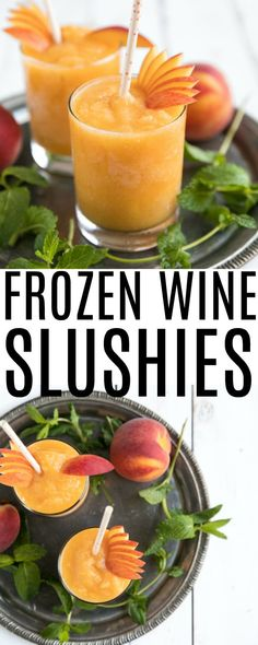 Frozen Peach Wine Slushies are made with just two simple ingredients - peaches and wine - for a blended, refreshing, and delicious summertime cocktail you'll make over and over again. Learn how to make wine slushies here! #wine #whitewine #peaches #summerdrinks #wineslushies #drinks #easydrinkrecipe | For this recipe and more visit, https://theforkedspoon.com via @theforkedspoon