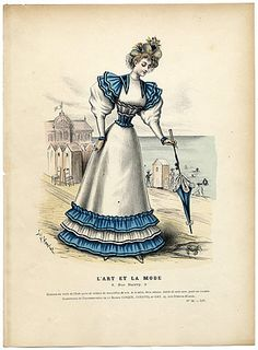 L'Art et la Mode 1893 N°31 Complete with colored engraving by Jules Hanriot, Louise Abbema