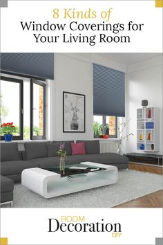 Your window covering style is an important decision to make when designing your living room decor. Here are some tips to help you with the choices. Living Room On A Budget, Small Living Rooms, Diy Room Decor, Living Room Decor, Home Decor, Exterior Design, Interior And Exterior, Living Room Furniture Arrangement, Family Room Decorating