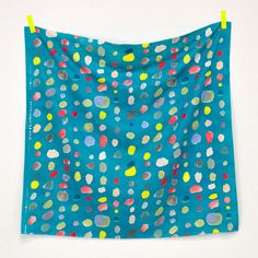 HALF YARD Kokka Nani Iro  Pierre Pocho Blue  Multi by fabricsupply