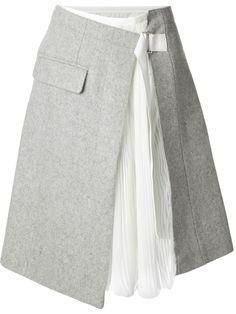 Sacai Wrap Skirt -Farfetch.com