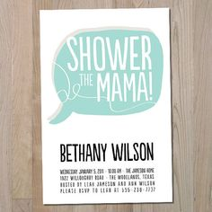 Concert Poster Baby Shower Invitation PRINTABLE by youngwanderlust