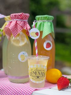 Adorable Lemonade Stand Party Label Set by Lia Griffith | Worldlabel Blog