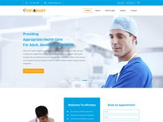 Infirmary is a clean and modern free responsive Bootstrap medical template for medical, health, clinic, hospital related websites. This template is designed using HTML5, CSS3 and Bootstrap framework.  If you are looking for an elegant fully functional medical category responsive website template Infirmary is readily available and easy to customize to your business needs.