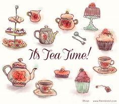 Tea Time Clip Art