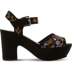 f6a59957a47 STEVE MADDEN Bonnie embroidered faux-suede platform sandals Very High  Heels