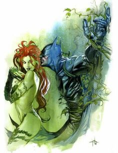 Poison Ivy and Batman BT Gabrielle Del Otto
