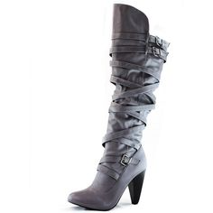 Fahrenheit Women's Strappy Slouch Over The Knee Comfortable Boots
