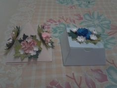 Floral punch craft boxes