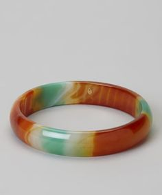 Aqua & Orange Agate Bangle by JewelMak...retail 90.00 sale price 25.99  Doesn't have to be agate