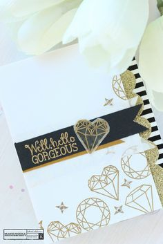 Brutus Monroe's Gilded embossing powder pairs perfectly with the Diamonds Stamp Set!