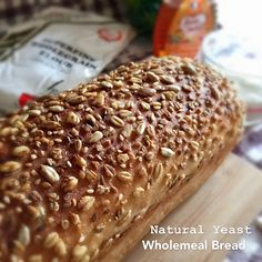 A natural yeast wholemeal bread with honey-butter-glazed multi grains topping. To be honest, the crust of the bread is the gem of the ...