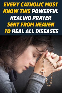 Every Catholic Must Know This Powerful Healing Prayer Sent from Heaven to Heal all Diseases - CatholicShare Catholic Prayer For Healing, Spiritual Prayers, Prayers For Strength, Prayers For Healing, Catholic Prayers Daily, Jesus Prayer, Prayer Scriptures, Faith Prayer, Prayer Quotes