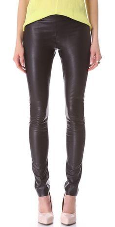 light leather leggings