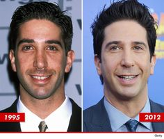 David Schwimmer: Good Genes or Good Docs? Friends Moments, Friends Tv Show, Celebrity Teeth, The Cast Of Friends, David Schwimmer, Ross Geller, Joey Tribbiani, Good Genes, Long Sleeve Maxi