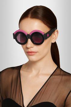 Finds|+ Fakoshima x Ria Keburia round-frame acetate sunglasses|NET-A-PORTER.COM