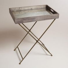 I can really see making this...  One of my favorite discoveries at WorldMarket.com: Mirrored Wood Butler Tray