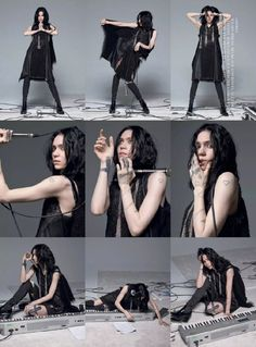 Grimes for Harper's Bazaar Icon's Unplugged September 2017 by By Brigitte Lacombe & Carine Roitfeld Action Pose Reference, Human Poses Reference, Pose Reference Photo, Figure Drawing Reference, Action Poses, Brigitte Lacombe, Claire Boucher, Drawing Body Poses, Dynamic Poses