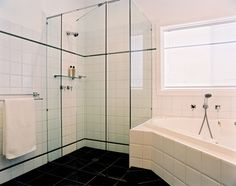 Bathroom renovations Designs, ideas, budget, cost, in Eastern suburbs Melbourne. Bathroom Renovations Melbourne, Bathroom, Corner Bathtub, Bathtub