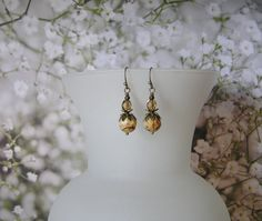 Jasper and Topaz Dangle Earrings with Natural by SmockandStone, $17.00