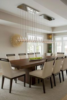 Modern Cape Renovation. Modern Dining Room LightingModern ...