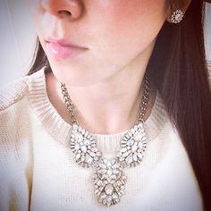 My New Fave from #chloeandisabel Holiday collection!! Celestial frost statement necklace & the stud earrings!