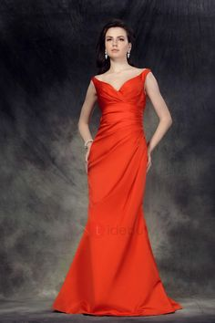 #TideBuy - #TideBuy Sexy Trumpet/Mermaid Floor-Length V-Neck Off-the-Shoulder Pleats Lubas Bridesmaid Dress - AdoreWe.com