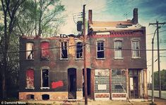 St. Louis In ruins: There are approximately 6,000 abandoned buildings in the Missouri city which has seen a declining population over the last 60 years.