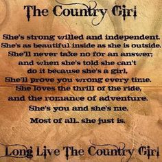 Country girl.