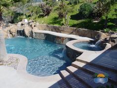 Raised spa with steps leading up to it - how inviting