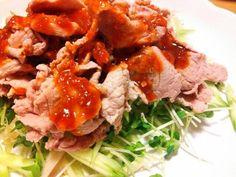 Boiled+Pork+with+Korean+Style+Red+Chili+&+Vinegar+Miso+Sauce
