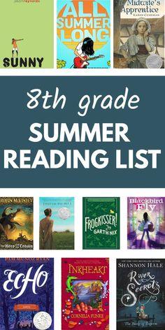 Must Read Novels, Best Books To Read, Good Books, Summer Reading Program, Summer Reading Lists, Reading Tips, Kids Reading, 8th Grade Reading List, Teen Fantasy Books