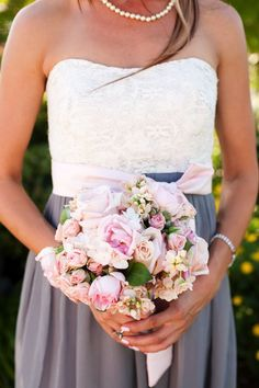 pink and gray / Nice dress-Melissa Sweet